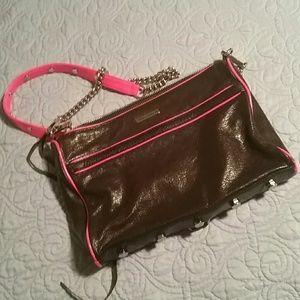 Rebecca Minkoff Bags - Rebecca Minkoff Mac Neon Pink & Gunmetal Leather